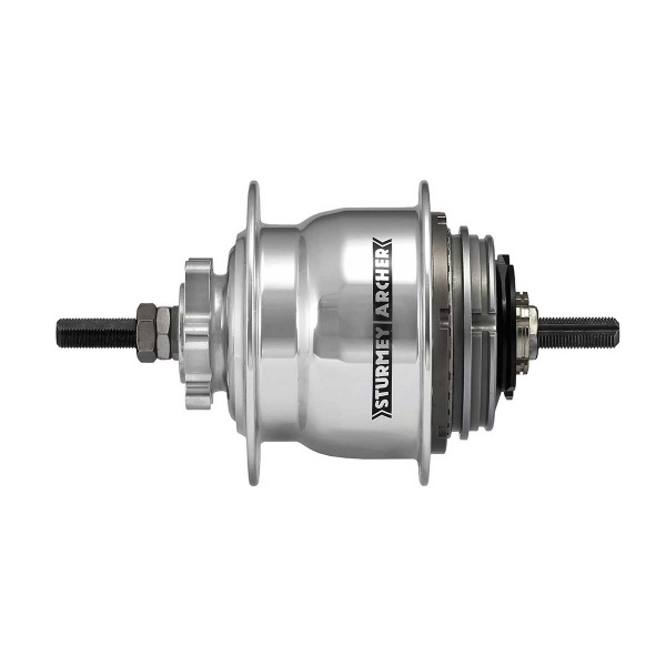 Nutted Alloy Sturmey Archer Bike//Cycling Front Hub Duno /& Drum Brake 36H